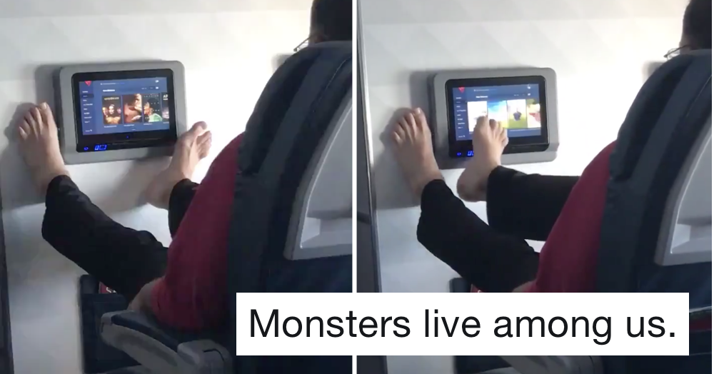 A guy was spotted doing this with his feet on a plane – 11 appalled reactions