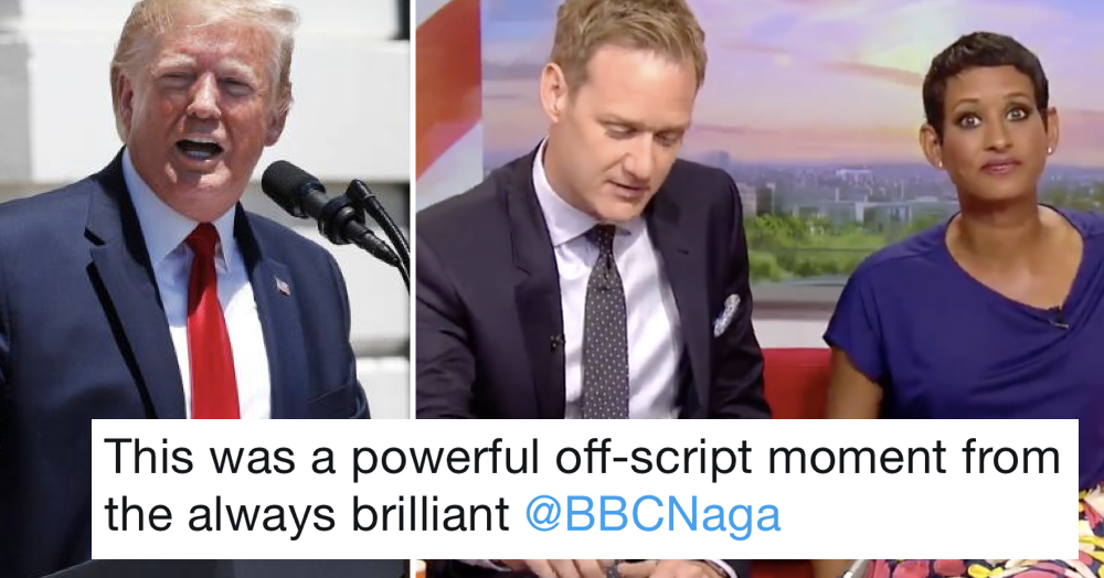 The BBC's Naga Munchetty called out Donald Trump over his racist 'go back' tweets and people love her for it