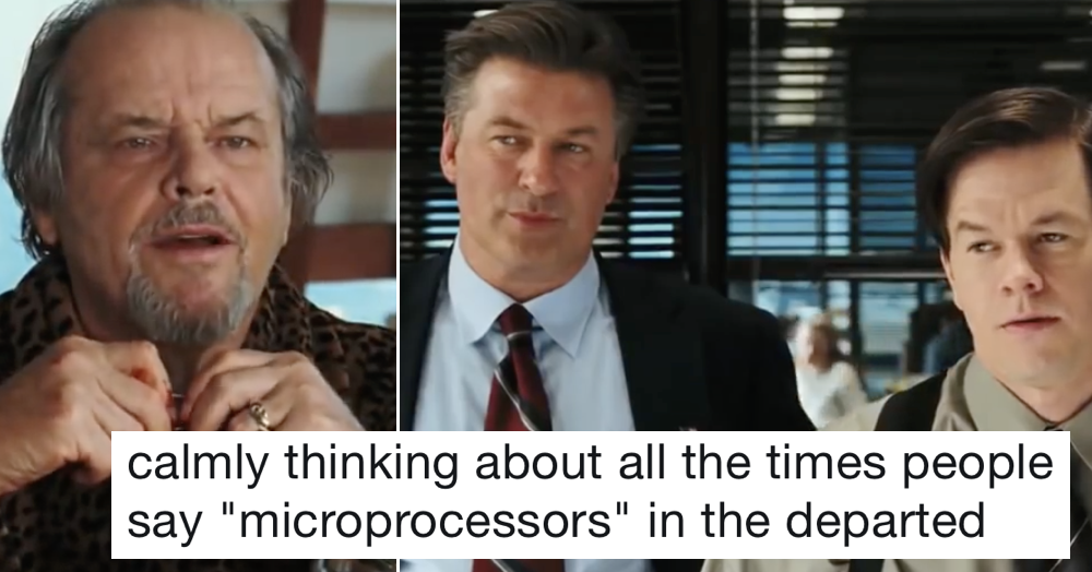 This supercut of people saying 'microprocessor' in The Departed is a retro delight
