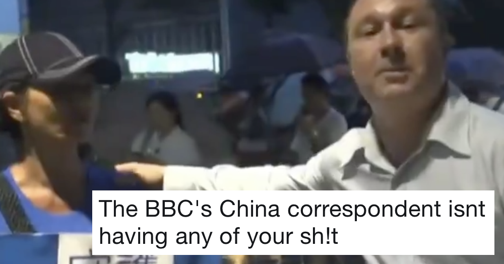 The way this BBC News guy deals with a heckler is just next level stuff