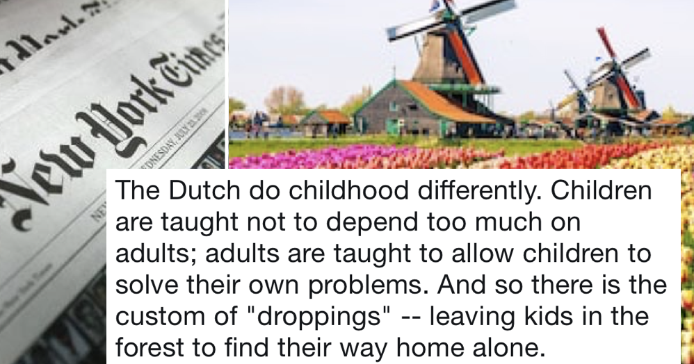 Americans think Dutch people dump their children in the woods and the clapback from Dutch Twitter was brutal