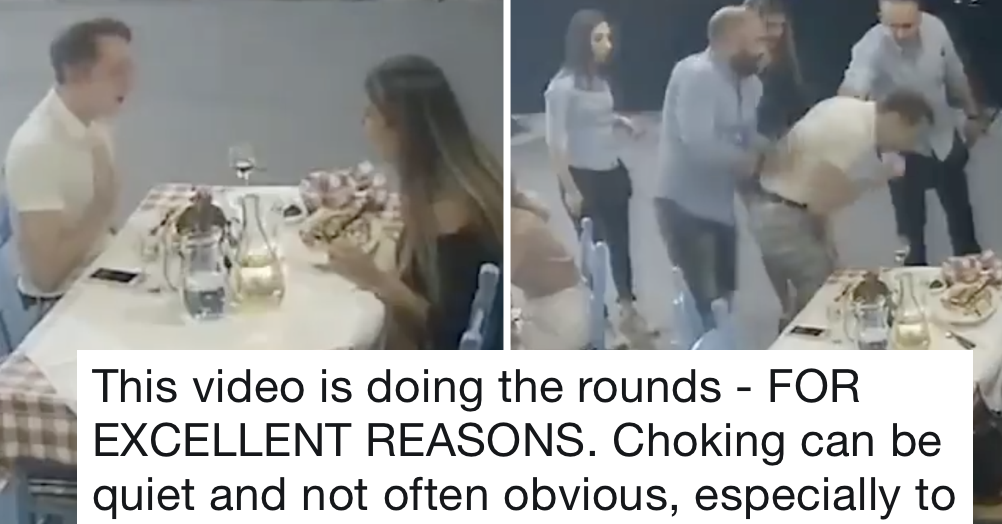This CCTV video of a diner choking is terrifying and a lesson for us all
