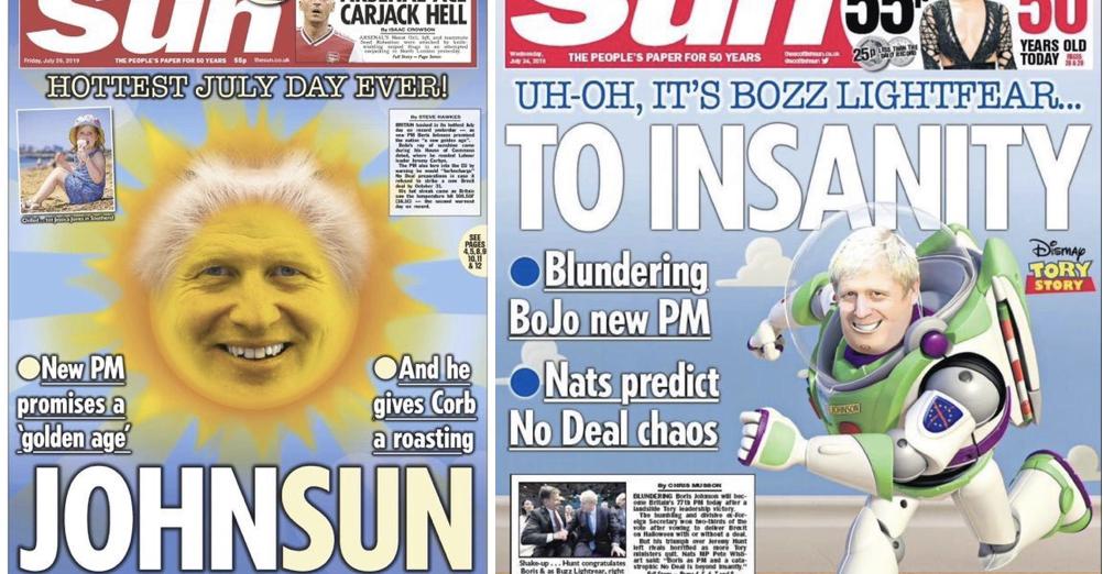 people are comparing the sun u0026 39 s boris johnson front page