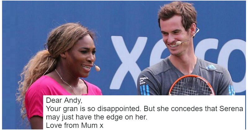 Andy Murray's doubles partnership with Serena Williams has disappointed his gran