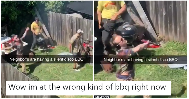 A video of a silent disco barbecue has gone viral and now we all want one
