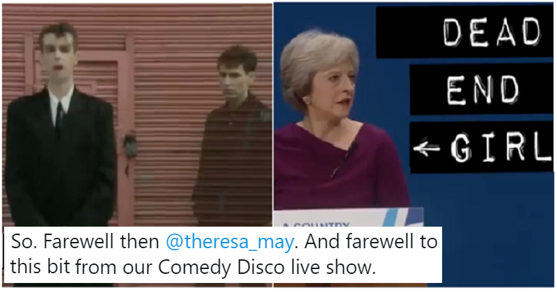 Cassetteboy's Pet Shop Boys vs Theresa May mash-up is the send-off she truly deserves