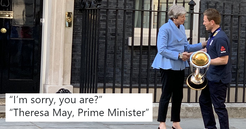 The 15 funniest captions for the picture of England's cricket captain meeting Theresa May