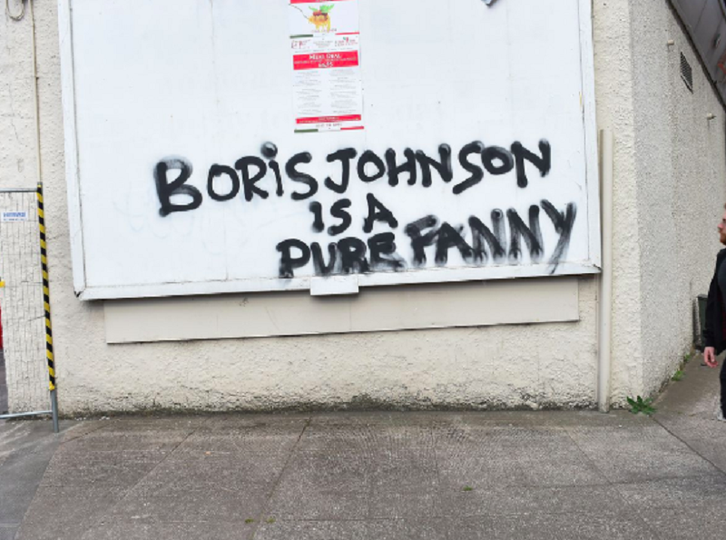 Glasgow produced the best Boris Johnson graffiti ever: a play in three acts