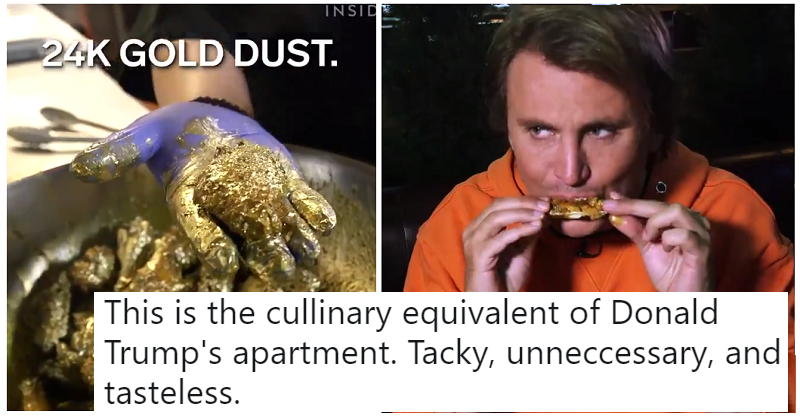 Somebody decided to make 24-carat gold chicken wings – the only 9 unimpressed reactions you need