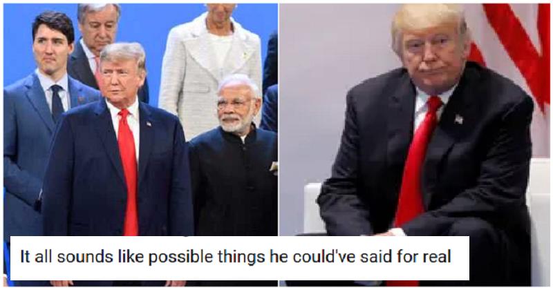 This hilarious Bad Lip Reading of Trump at the G20 summit makes more sense than the real thing
