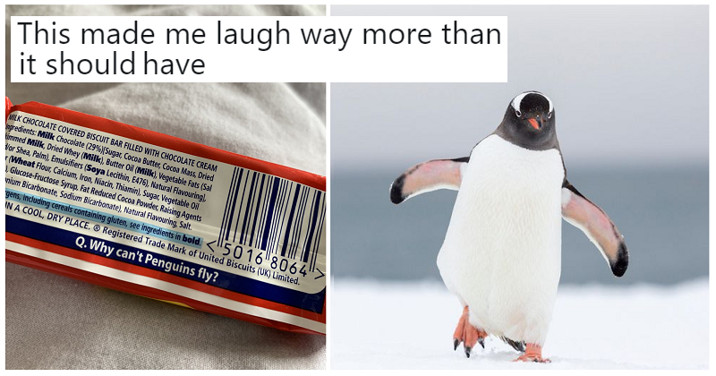 This biscuit-wrapper joke is either the best or the worst you'll see today