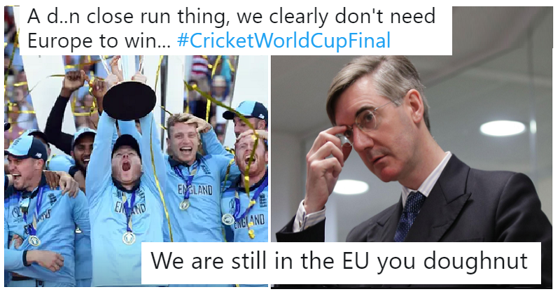 Jacob Rees-Mogg made England's cricket win all about Brexit – 19 times he was smashed to the boundary