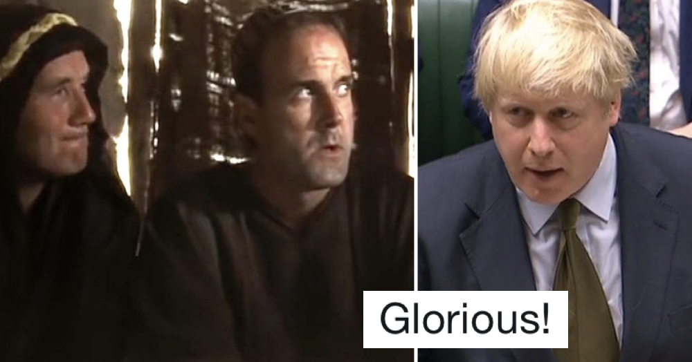 PMQs with Monty Python's 'What have the Romans ever done for us' on top is the perfect Brexit takedown
