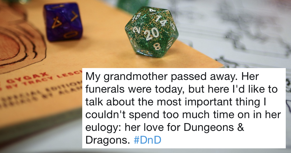 People adore this man's story about his late grandmother's love for Dungeons & Dragons