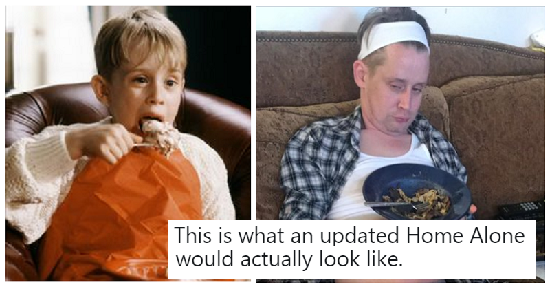 Macaulay Culkin hilariously demonstrates how an updated Home Alone should look