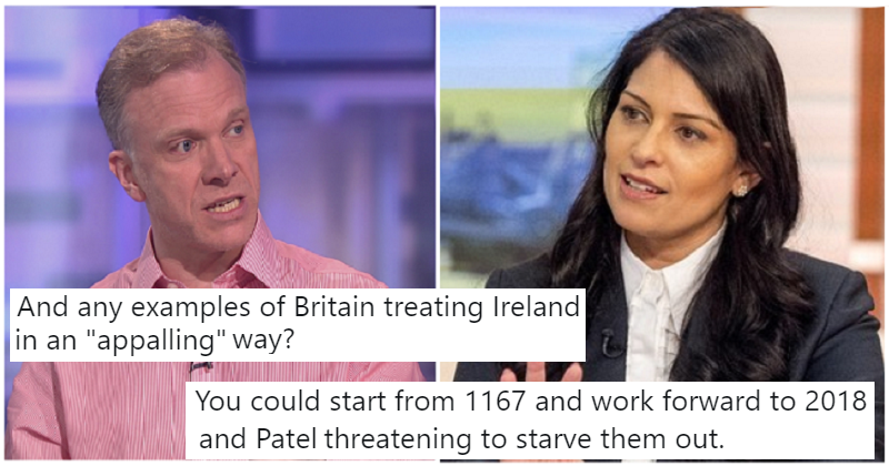 A Brexiter asked how the UK had treated Ireland badly and the replies were borderline genius