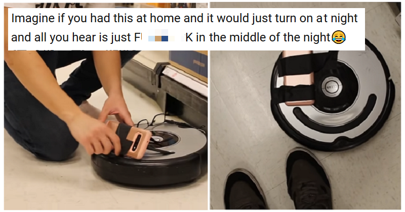 Probably the most relatable – and sweary – robot vacuum cleaner you'll see this week