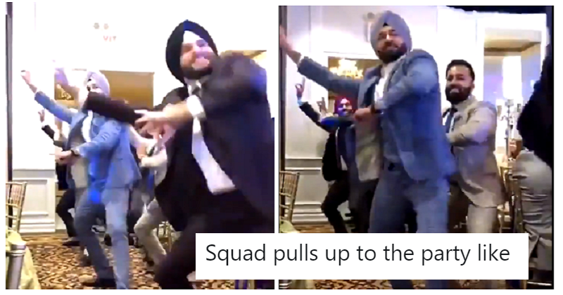 A clip of Sikh men dancing has gone viral because it's completely joyous