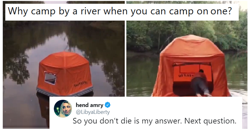 This floating tent is fooling nobody – 15 very funny reactions