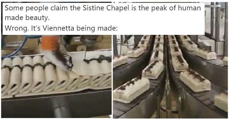 Is there any sight more satisfying than the Viennetta production line?