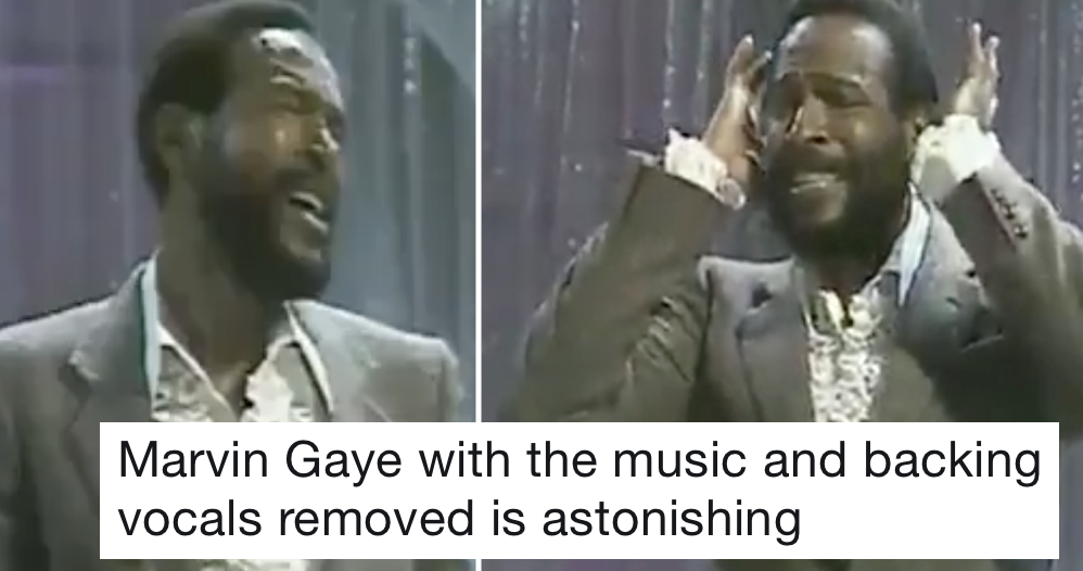 Marvin Gaye with the music and backing vocals removed will make all your hairs stand up at once