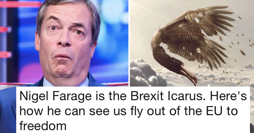 Simply 14 fabulous Telegraph takedowns after it compared Nigel Farage to a 'Brexit Icarus'
