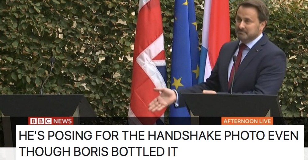 Boris Johnson was royally owned by the PM of Luxembourg – the internet reacts