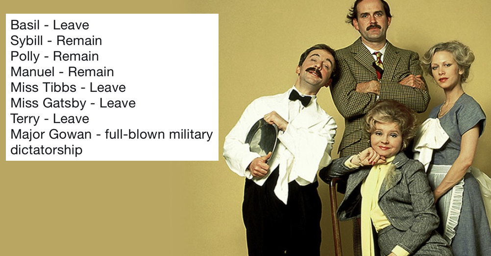 'Brexit Fawlty Towers' went viral and people have been doing it with other TV favourites and it's very good indeed