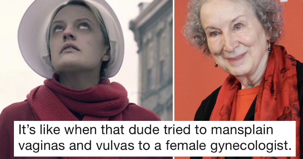 A guy tried to mansplain Handmaid's Tale to its author and was owned into next week