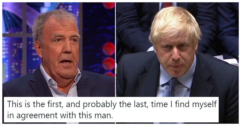 People are stunned to find themselves agreeing with …Jeremy Clarkson