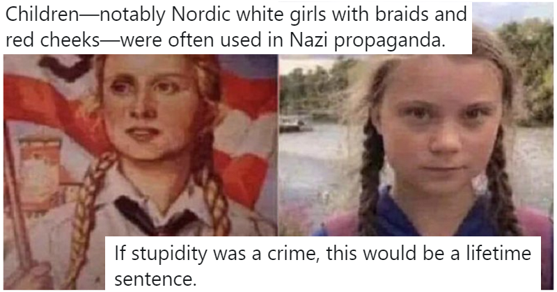 The only 7 reactions you need to someone comparing Greta Thunberg to the Nazis