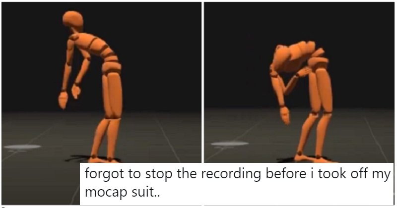 There's something really creepy about this motion-capture suit being removed