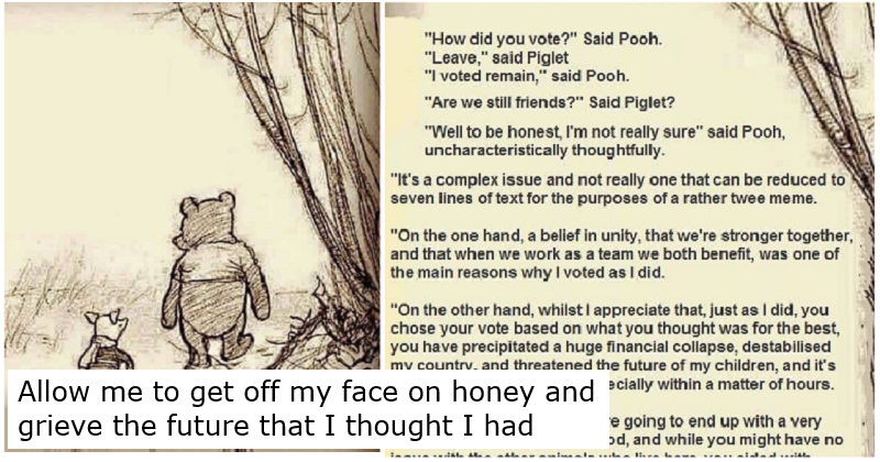 This post-referendum Winnie the Pooh meme has resurfaced and it's still depressingly relevant