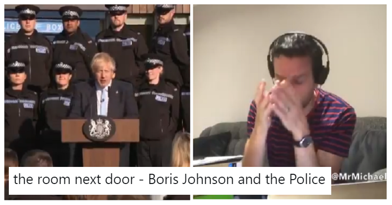 The room next door – to Boris Johnson and the police