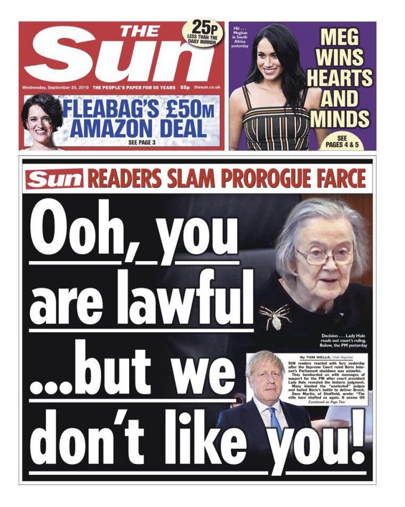 The only 7 responses you need to that ancient cultural reference on the Sun's front page