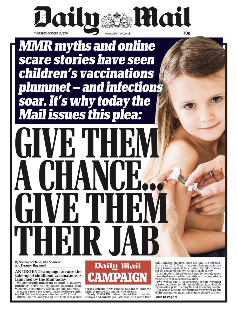 People are pointing out this Daily Mail vaccination campaign's rank hypocrisy (but glad it's changed its mind)