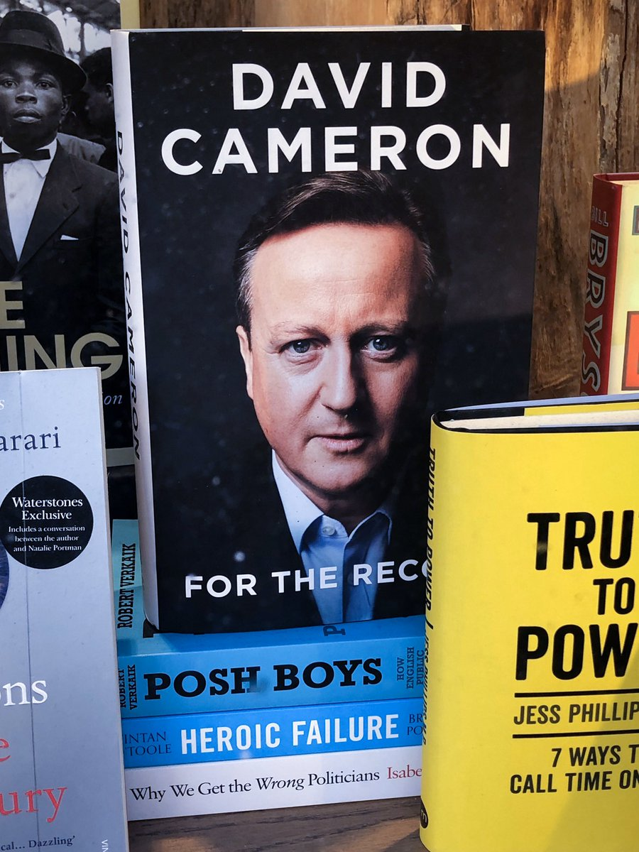 The Waterstones window dresser who did this with David Cameron's book can take the rest of the day off