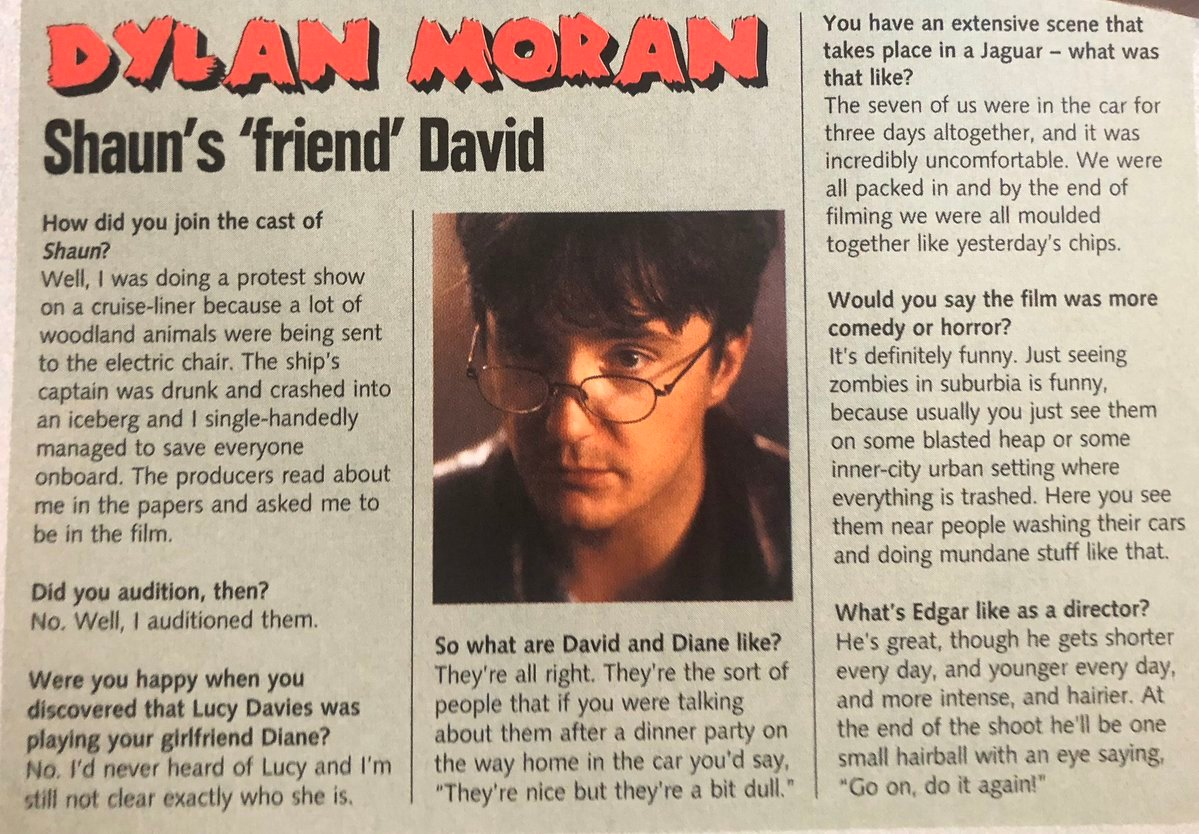 Dylan Moran's Shaun of the Dead Q&A went viral 15 years later because he didn't take it entirely seriously