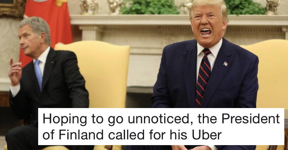 People Love How The Finnish President Reacted To Trump's