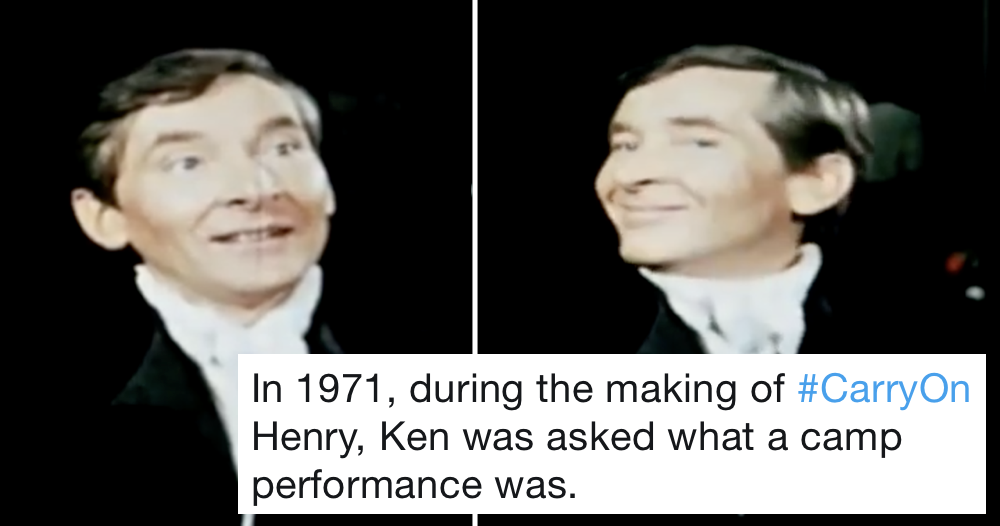 Kenneth Williams was asked to define camp and his answer was simply glorious