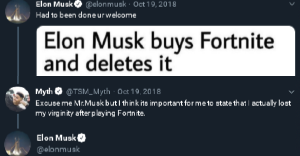 People enjoyed Elon Musk's takedown of the guy who said he had sex after playing Fortnite