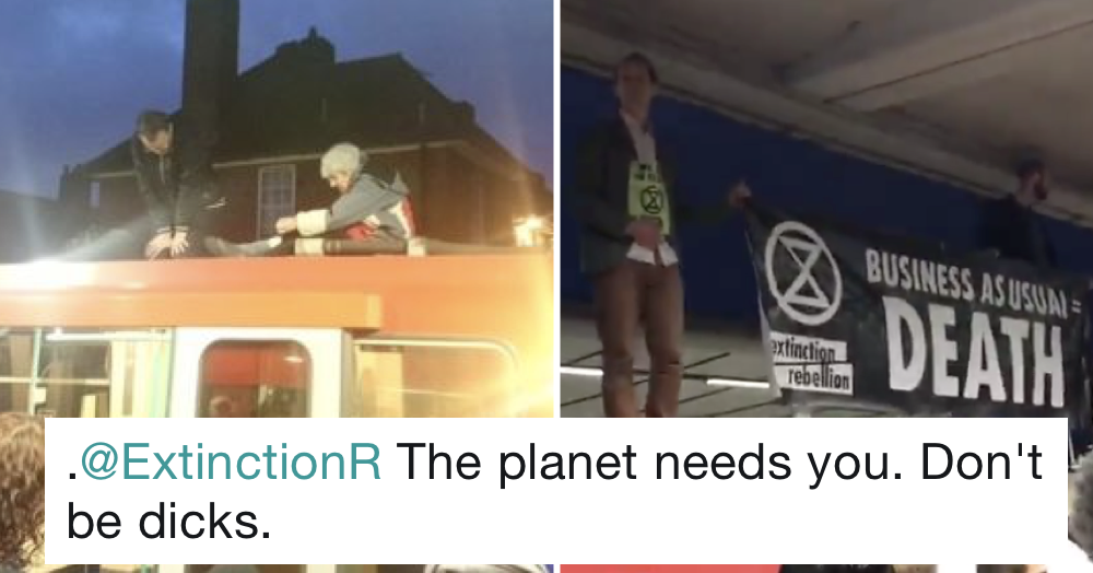 Our 7 favourite responses after Extinction Rebellion brought chaos to the Tube today
