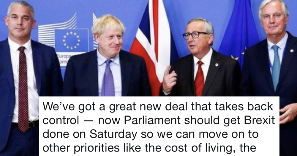 Boris Johnson's done a Brexit deal with the EU – only 7 responses you need
