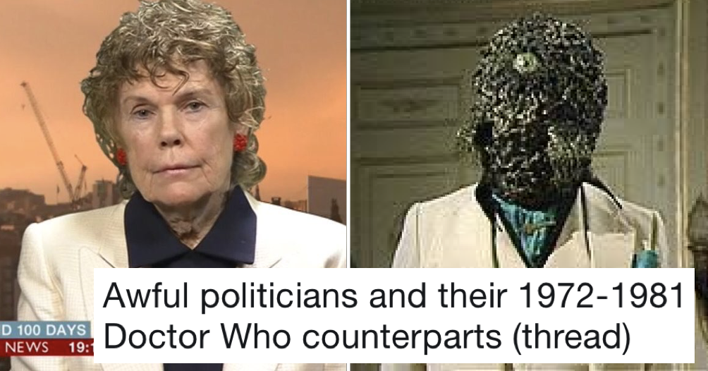 This thread of awful politicians and their Doctor Who counterparts is just wonderful