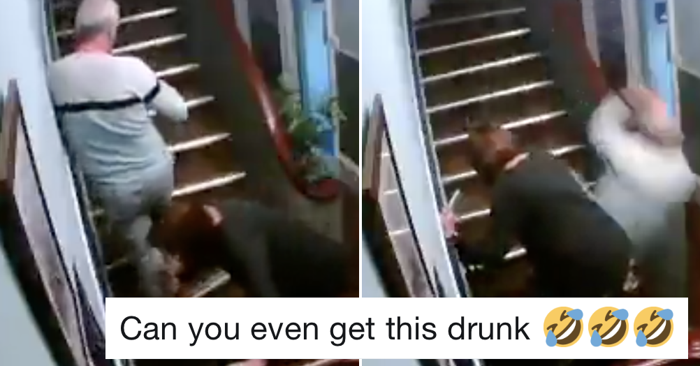 This drunken comedy of errors is 2 minutes well spent – and even better when someone added sound