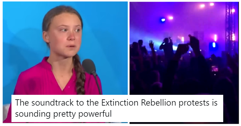 Fatboy Slim's Right Here, Right Now mixed with Greta Thunberg's UN speech is powerful stuff
