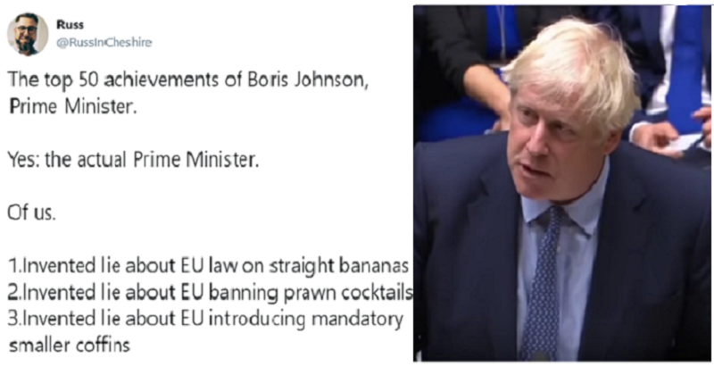 """The top 50 achievements of Boris Johnson"" is a depressing read"