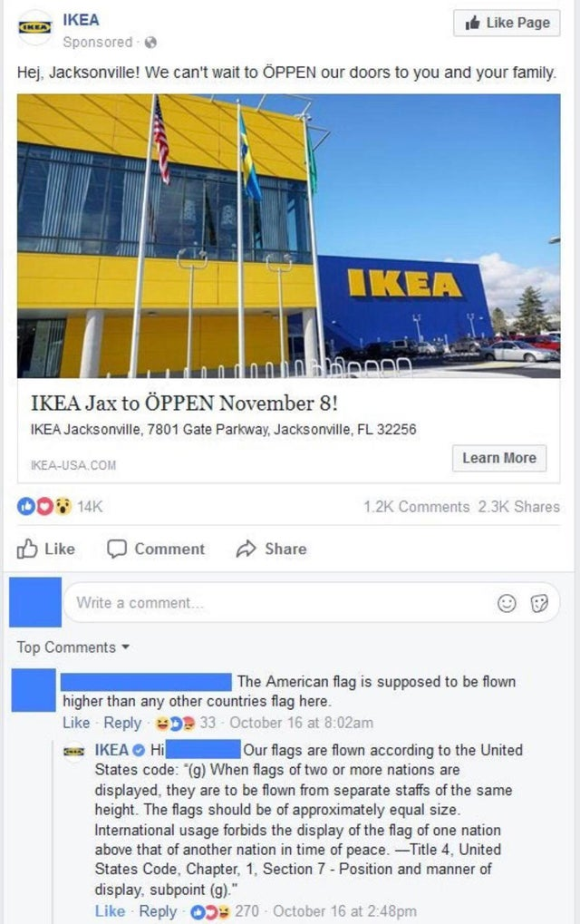 This American accused IKEA of disrespecting the Stars and Stripes and was schooled into next week
