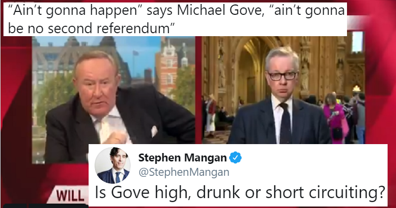 "Michael Gove went a bit ""street"" in his reply to Andrew Neil – the only 5 takedowns you need"