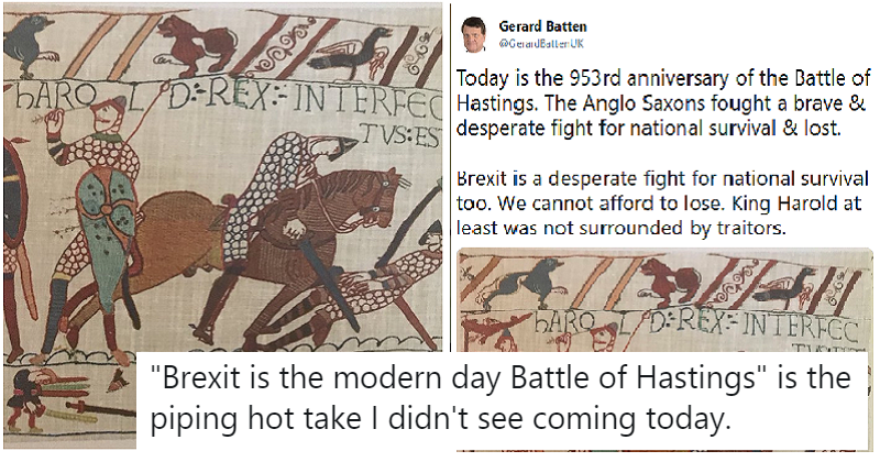 These takedowns were one in the eye for the Ukipper liking the Battle of Hastings to Brexit